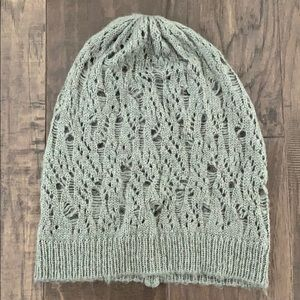 Gray open knit beanie from Forever 21.